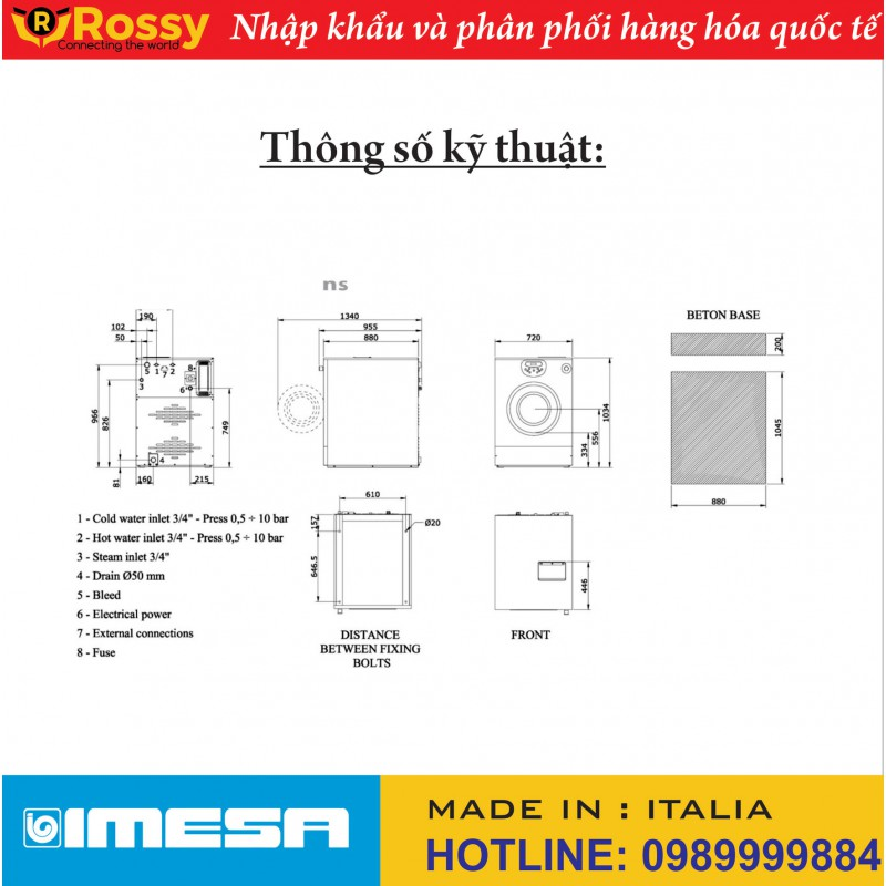 Máy giặt LM 8 Heating electric